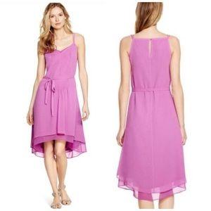 White House Black Market purple high low dress 14